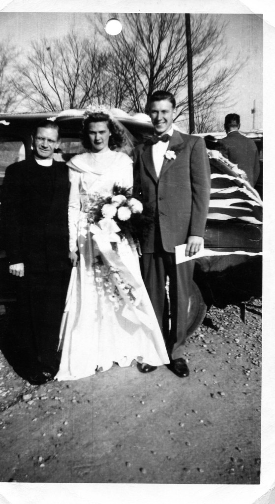 grams and gramps wedding day 1948